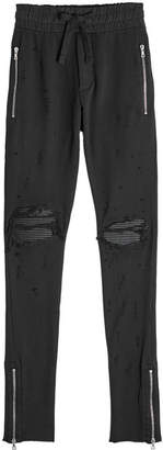 Amiri Distressed Cotton Sweatpants