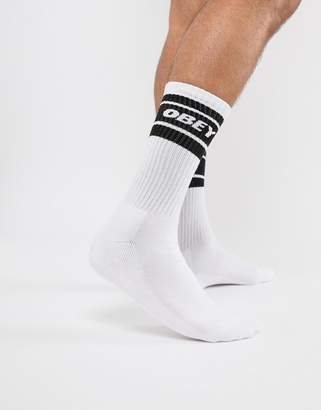 Obey Cooper Socks In White
