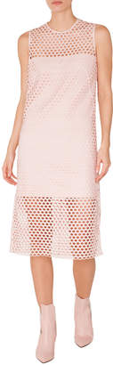 Akris Punto Sleeveless Round-Neck A-Line Lace Midi Dress
