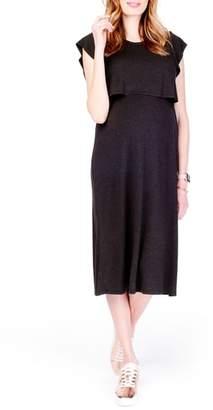 Ingrid & Isabel R) Maternity/Nursing Midi Dress