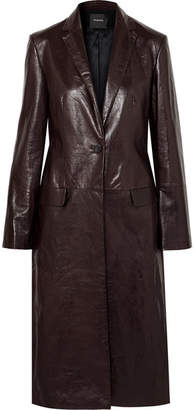Theory Textured-leather Coat