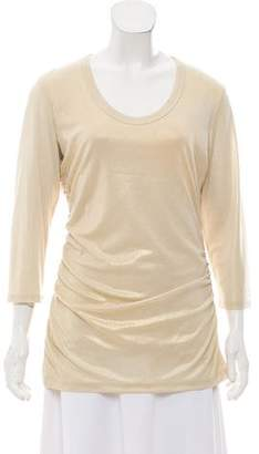 Etcetera by Edmond Chin Long Sleeve Metallic Top