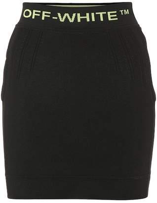 Off-White Off White Stretch knit miniskirt