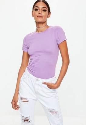 Missguided Purple Crew Neck T-shirt