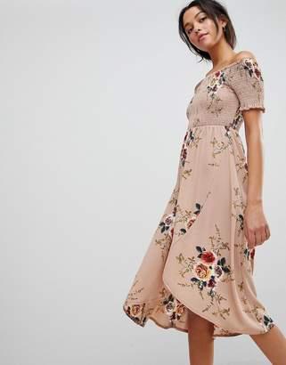 AX Paris Bandeau Floral Midi Dress