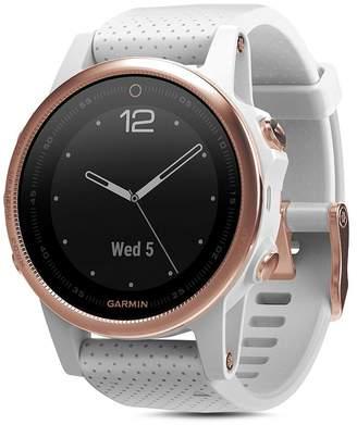 Garmin fenix5S Sapphire Premium Multisport GPS White Smartwatch, 42mm