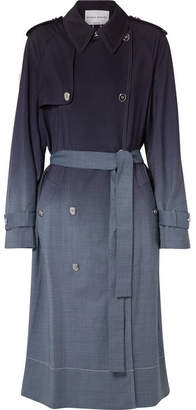 Sonia Rykiel Checked Ombré Wool Trench Coat - Blue