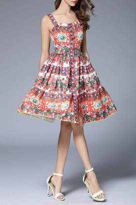 Fashion Pickle Printed Summer Dress