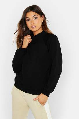 boohoo Knit Rib Roll Neck Premium Oversize Sweat