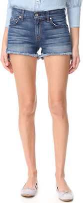 7 For All Mankind Cutoff Step Hem Shorts $159 thestylecure.com
