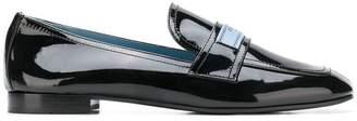 Prada square toe loafers