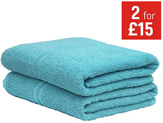 ColourMatch Pair of Bath Towels - Crystal Blue