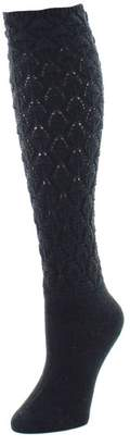 Natori Variegated Knit Schiffli Knee High Socks
