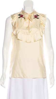 Gucci Embroidered Silk Blouse w/ Tags