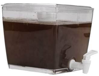 clear Mind Reader Cold Brew Beverage Dispenser, Brewed Iced Coffee Maker, Overnight Coffee Maker, Plastic Dispenser Infuser, Removable Filter,