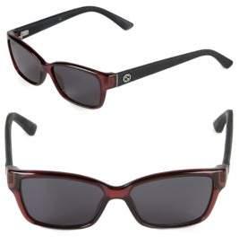 Gucci 50MM Rectangle Sunglasses