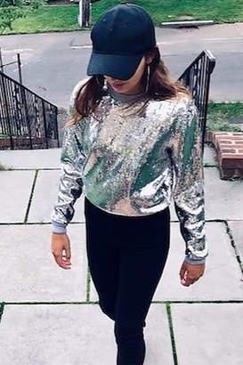 Michael Kors Pearl Grey Sequin Sweater