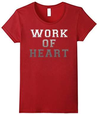 Work Of Heart Collegiate Grey Gradient Graphic T-Shirt
