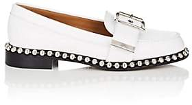 Chloé Women's Chain-Embellished Leather Loafers - White
