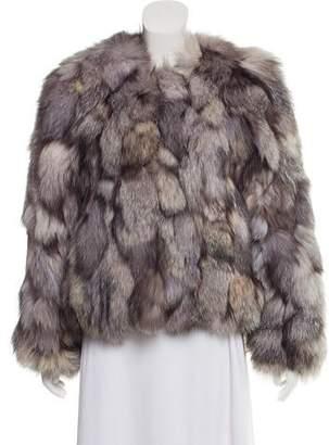 Alice + Olivia Fox Fur Jacket