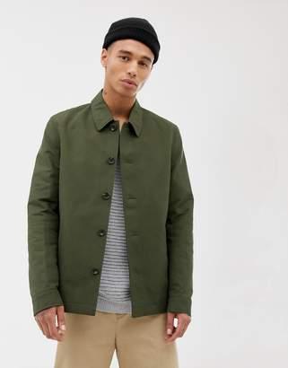 Asos DESIGN button through jacket in khaki