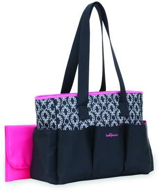 Baby Boom Babyboom 6-Pocket Tote Diaper Bag with Pink Trim