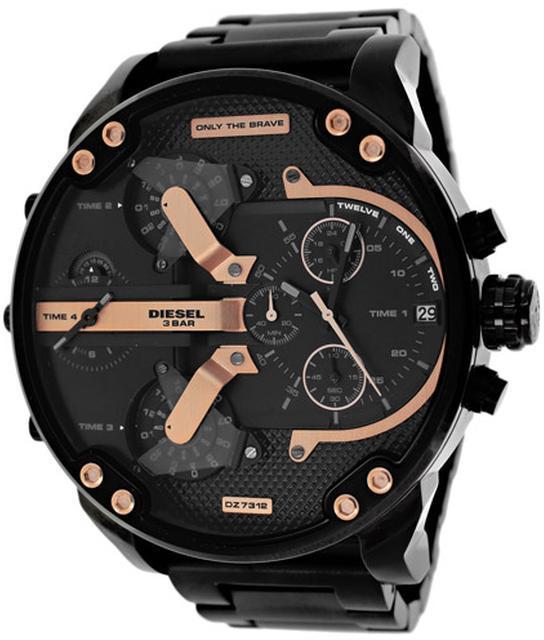 DieselDiesel DZ7312 Men's Mr. Daddy Black Stainless Steel Watch with Chronograph