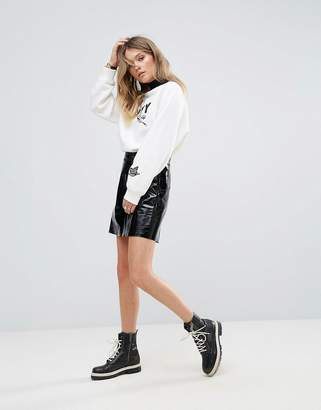 Tommy Hilfiger Patent Leather Skirt