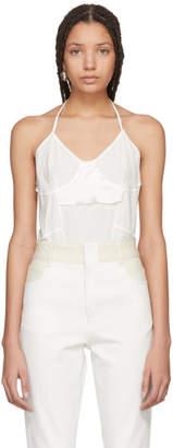 Wendelborn White Silk Inside-Out Bodysuit