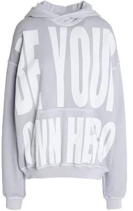 Oversized Printed Cotton-Terry Hooded Sweatshirt