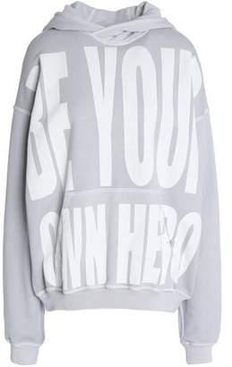 Haider Ackermann Oversized Printed Cotton-Terry Hooded Sweatshirt