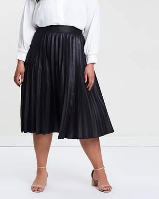 Coated Pleated Skirt