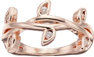 Lauren Conrad Simulated Crystal Midi Twig Ring