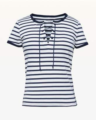 Juicy Couture Striped Lace Up Tee