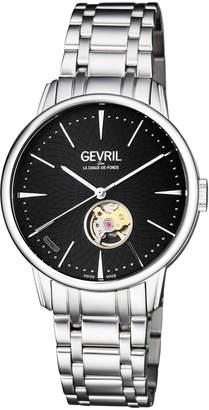 Gevril Men's 34mm Automatic Mulberry Bracelet Watch Black\/Steel