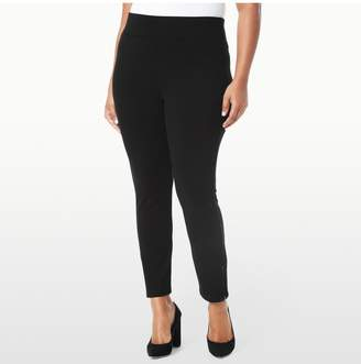 NYDJ PULL ON LEGGING IN PONTE KNIT WITH ANKLE ZIP IN PLUS