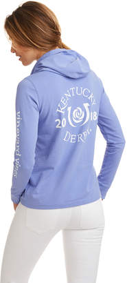 Vineyard Vines Long-Sleeve Kentucky Derby Logo Hoodie Pocket Tee