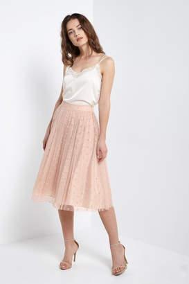Soprano Blush Polka-Dots Tulle-Skirt