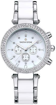 Timothy Stone Women's 'Desire' Crystal Accented Two Tone Bracelet Boyfriend Watch