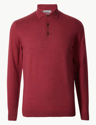 Marks and Spencer Cotton Rich Knitted Polo