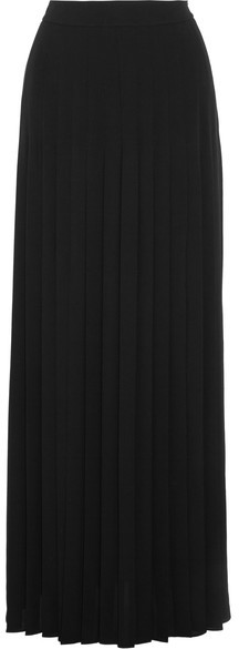 Michael Kors Collection - Pleated Silk-georgette Maxi Skirt - Black