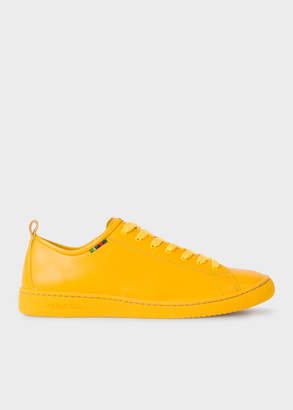 Paul Smith Men's Yellow Calf Leather 'Miyata' Trainers