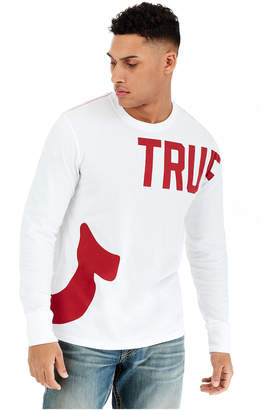 dd0b4d35ed56f2 True Religion TR AROUND LS CREW NECK MENS TEE