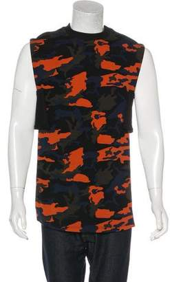 Givenchy 2014 Camo Sleeveless Slip-On Sweatshirt