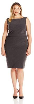 Single Dress Women's Plus-Size Samantha with Side Ruching $186.43 thestylecure.com
