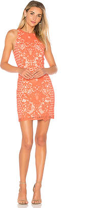Endless Rose High Neck Floral Crochet Dress in Coral $130 thestylecure.com
