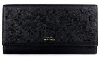 Smythson Marshall Leather Travel Wallet - Mens - Black
