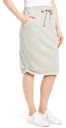 Caslon Off-Duty Cotton Knit Drawstring Skirt