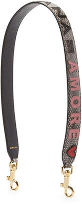 Dolce & Gabbana Ayers Amore Leather Bag Strap