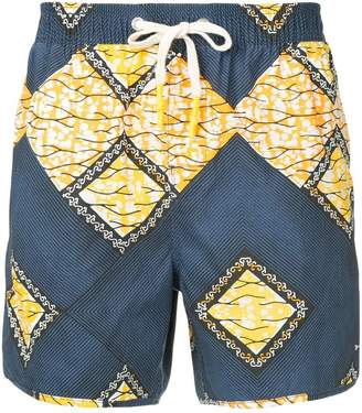 The Upside mosaic shorts
